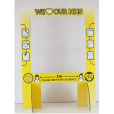 Cough Screen Clear  Counter Top Sneeze Guard  Virus Plastic Shield Protection - Yellow