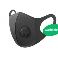 Black Face Mask Washable Air Purifying Mouth Nose Filter Respirator Mask
