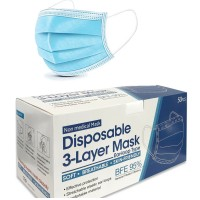 50 Pcs Disposable Mouth Face Masks - 3-layer Respirator Masks - Dust - Proof Personal Protection