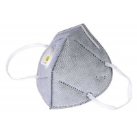 Reusable KN95 Mask Breathable Valved Face Masks PM2.5 - Gray