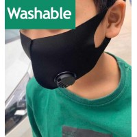 Kids Black Face Mask Washable Air Purifying Mouth Nose Filter Respirator Mask - Black