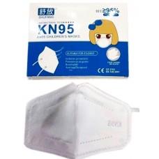 Kids Reusable KN95 Mask Breathable Valved Face Masks PM2.5 - White