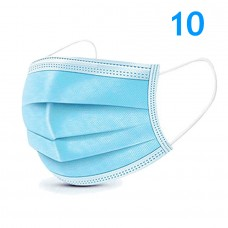 10 Pcs Disposable Mouth Face Masks - 3-layer Respirator Masks - Dust - Proof Personal Protection